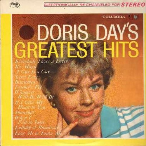 Day, Doris - Greatest Hits: Teacher's Pet, It's Magic, Secret Love, When I Fall In Love, Love Me Or Leave Me, Bewitched, Que Sera Sera (vinyl STEREO LP record, 1980's issue) - NM9/EX8 - LP Records