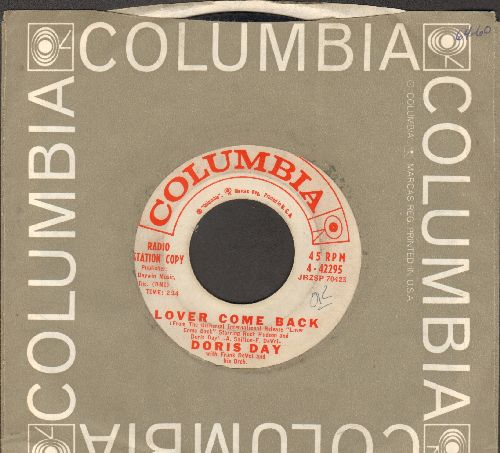 Day, Doris - Lover Come Back/Falling (DJ advance pressing with Columbia company sleeve) - VG7/ - 45 rpm Records