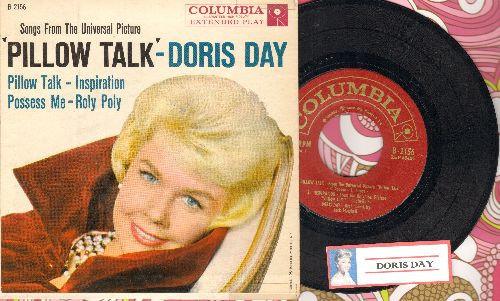 Day, Doris - Pillow Talk/Inspiration/Possess Me/Roly Poly (RARE vinyl EP record with picture cover) - EX8/EX8 - 45 rpm Records