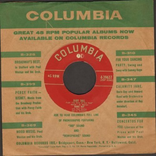 Day, Doris - Baby Doll/Oops (both songs from -The Belle Of New York- )(with vintage Columbia company sleeve, sol) - NM9/ - 45 rpm Records