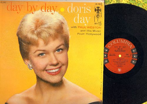 Day, Doris - Day By Day: Gone With The Wind, Autumn Leaves, I Remember You, There Will Never Be Another You (Vinyl MONO LP record, red label/6 eyes first issue, NICE condition!) - EX8/EX8 - LP Records