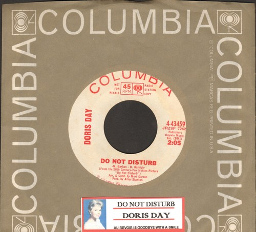 Day, Doris - Do Not Disturb/Au Revoir Is Goodbye With A Smile (DJ advance pressing with Columbis company sleeve and juke box label) - NM9/ - 45 rpm Records