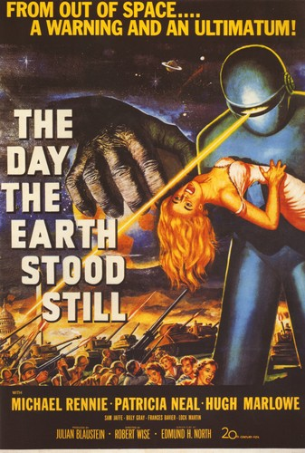 The Day The Earth Stood Still - The Day The Earth Stood Still (1951) - Classic Movie Poster. 12 X 16 inch full-color reproduction on heavy card board, suitable for framing!  - M10/ - Poster