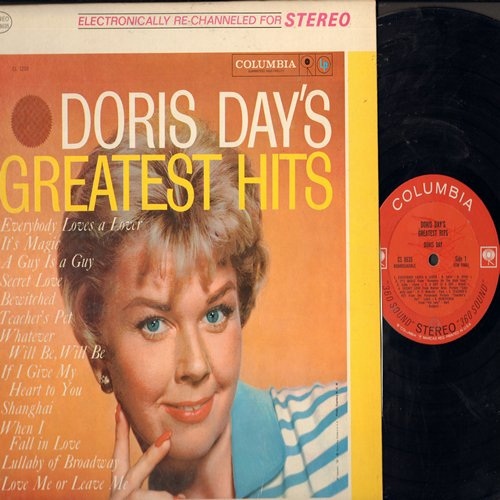 Day, Doris - Doris Day's Greatest Hits: Whatever Will Be Will Be, Secret Love, When I Fall In Love, Teacher's Pet, Love Me Or Leave Me (Vinyl STEREO LP record) - EX8/EX8 - LP Records