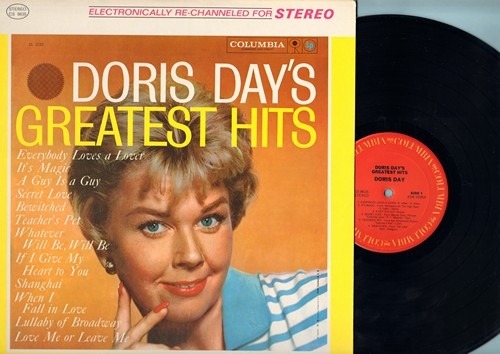 Day, Doris - Doris Day's Greatest Hits: Whatever Will Be Will Be, Secret Love, When I Fall In Love, Teacher's Pet, Love Me Or Leave Me (Vinyl STEREO LP record, 1980s DJ pressing) - M10/EX8 - LP Records