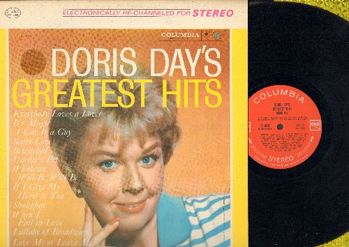 Day, Doris - Greatest Hits: Teacher's Pet, It's Magic, Bewitched, Que Sera Sera (Whatever Will Be Will Be), Everybody Loves A Lover, When I Fall In Love, Love Me Or Leave Me (Vinyl STEREO LP record, red label, 6 white eyes first issue) - EX8/EX8 - LP Reco