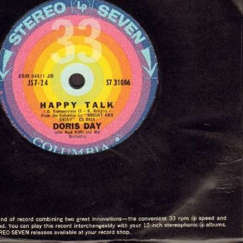 Day, Doris - Happy Talk/Gotta Feelin' (RARE 7 inch 33rpm record with small spindle hole, with Columbia company sleeve) - M10/ - 45 rpm Records