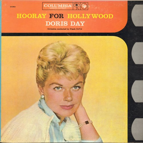 Day, Doris - Hooray For Hollywood: Cheek To Cheek, Over The Rainbow, You'll Never Know, Pennies From Heaven (2 vinyl STEREO LP record set, gate-fold cover, Book-Of-The-Month-Club Pressing) - M10/NM9 - LP Records