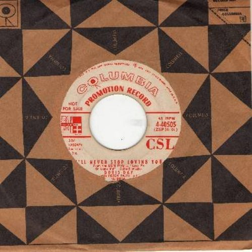 Day, Doris - I'll Never Stop Loving You/Never Look Back (from film -Love Me Or Leave Me- DJ advance copy with Columbia company sleeve) - VG7/ - 45 rpm Records