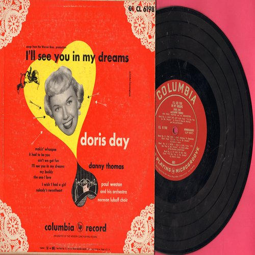 Day, Doris - I'll See You In My Dreams: Making Whoopee, It Had To Be You, Ain't We Got Fun, My Buddy + 4 (10 inch vinyl Mini-LP with picture cover) - VG7/VG7 - LP Records