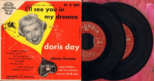 Day, Doris - I'll See You In My Dreams/Makin' Whoopee/It Had To Be You/Ain't We Got Fun/My Buddy + 3 (2 vinyl EP records in gate-fold picture album) - EX8/VG7 - 45 rpm Records