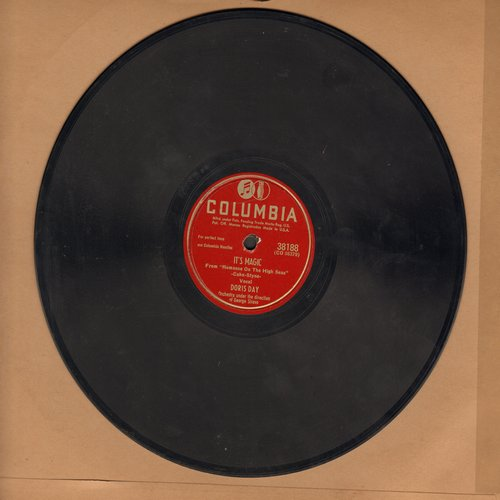 Day, Doris - It's Magic/Put'em In A Box, Tie'em  With A Knot (And Throw'em In The Deep Blue Sea) (10 inch 78 rpm record) - VG6/ - 78 rpm