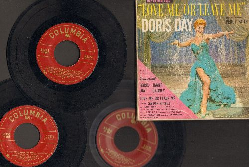 Day, Doris - Love Me Or Leave Me - Original Motion Picture Soundtrack on 3 vinyl EP records, gate-fold cover - VG6/VG6 - 45 rpm Records