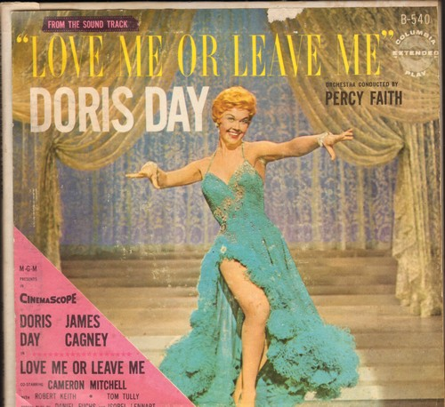 Day, Doris - Love Me Or Leave Me - Original Motion Picture Soundtrack on 3 vinyl EP records, gate-fold cover) - VG7/VG7 - 45 rpm Records