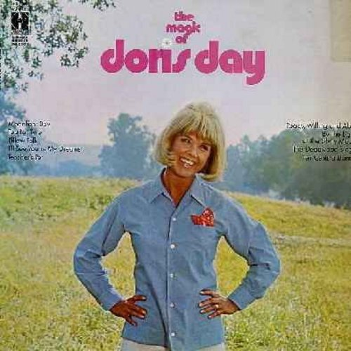 Day, Doris - The Magic Of Doris Day: Pillow Talk, Teacher's Pet, By The Light Of The Silvery Moon, Tea For Two, Moonlight Bay, Ten Cents A Dance (Vinyl STEREO LP record) - NM9/EX8 - LP Records