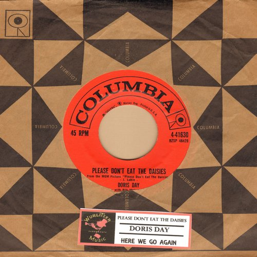 Day, Doris - Please Don't Eat The Daisies/Here We Go Again (with vintage Columbia company sleeve) - NM9/ - 45 rpm Records