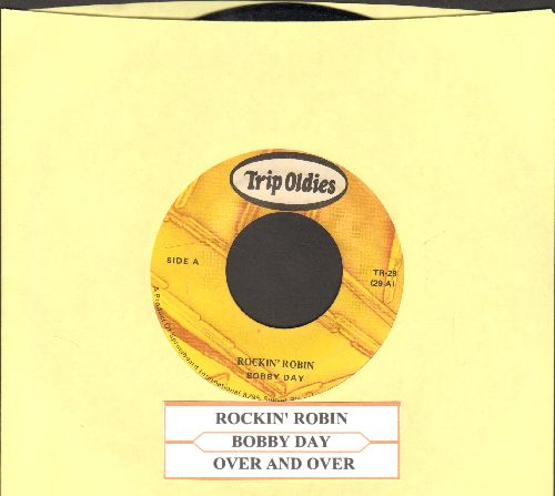 Day, Bobby - Rockin' Robin/Over And Over (double-hit re-issue with juke box label) - EX8/ - 45 rpm Records