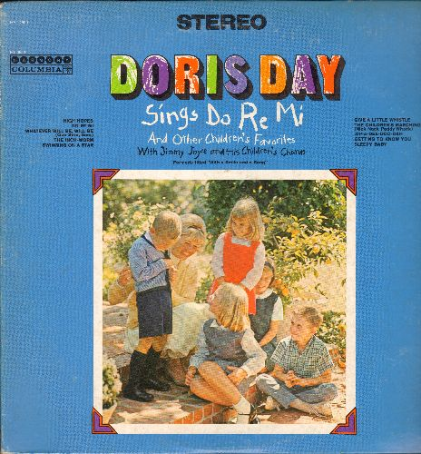 Day, Doris - Doris Day Sings Do Re Me and other Children's Favorites: High Hopes, Swinging On A Star, Whatever Will Be Will Be, Zip-A-Dee-Doo-Dah, Give A Little Whistle (vinyl STEREO LP record) - EX8/EX8 - LP Records