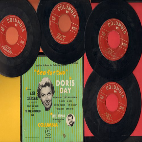 Day, Doris - Tea For Two: First issue Box Set of 4 45rpm records featuring 8 songs from the Original Motion Picture Sound Track. COLLECTOR'S ITEM! - EX8/EX8 - 45 rpm Records