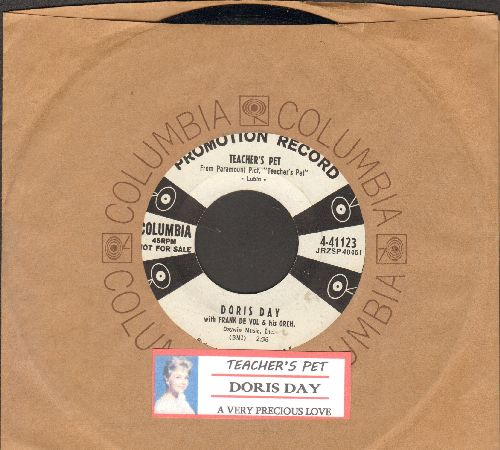 Day, Doris - Teacher's Pet/A Very Precious Love (DJ advance pressing with juke box label and vintage Columbia company sleeve) - NM9/ - 45 rpm Records