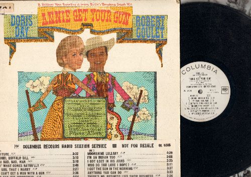 Day, Doris, Robert Goulet - Annie Get Your Gun: Doin' What Comes Naturally, Anything You Can Do, I'm An Indian Too, You Can't Get A Man With A Gun (Vinyl MONO LP record, RADIO STATION copy with song index pasted on cover) - EX8/VG7 - LP Records