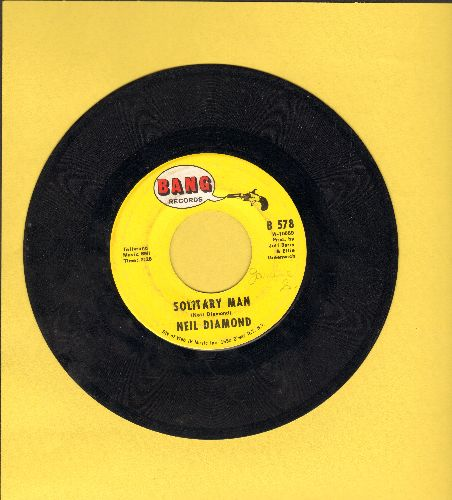 Diamond, Neil - Solitary Man/The Time Is Now  - EX8/ - 45 rpm Records