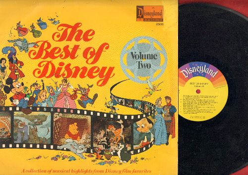 Disney - Best Of Disney Vol. 2: Supercalifragilisticexpialidocious, Lavender Blue, When You Wish Upon A Star (Vinyl MONO LP record) - VG7/VG7 - LP Records