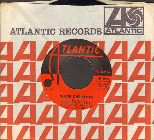 Drifters - White Christmas/The Bells Of St. Mary's (with vintage Atlantic company sleeve)  - EX8/ - 45 rpm Records