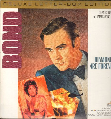 Diamonds Are Forever - Diamonds Are Forever - The James Bond Classic starring Sean Connery with legendary Theme by Shirley Bassey - Deluxe Letter-Box Edition double LASERDISC in gate-fold cover. - NM9/NM9 - LaserDiscs