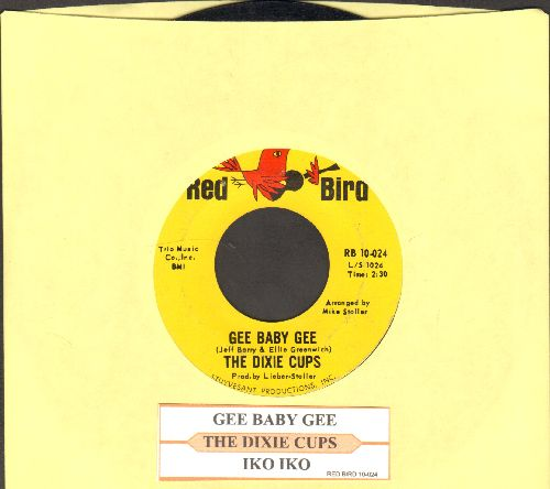Dixie Cups - Gee Baby Gee/Iko Iko (alternate pressing with jke box label) - EX8/ - 45 rpm Records