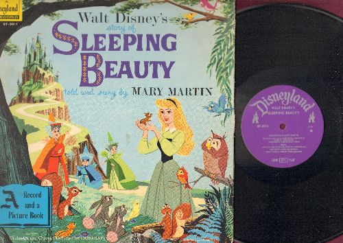 Disney - Sleeping Beauty - Told and sung by Mary Martin (Vinyl STEREO LP record, gate-fold cover with color story picture pages) - NM9/VG7 - LP Records