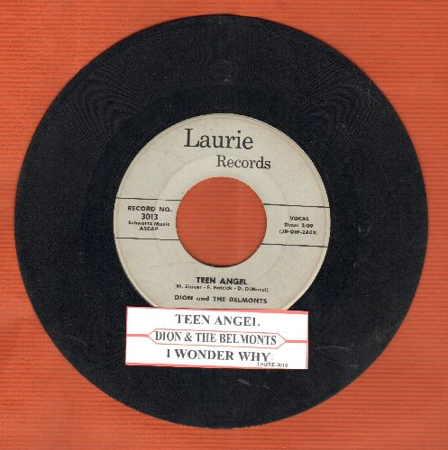 Dion & The Belmonts - I Wonder Why/Teen Angel (with juke box label) - VG7/ - 45 rpm Records