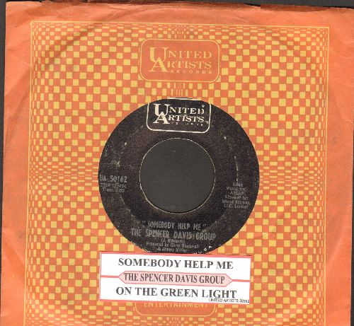 Davis, Spencer Group - Somebody Help Me/On The Green Light (with juke box label and United Artists company sleeve) - EX8/ - 45 rpm Records