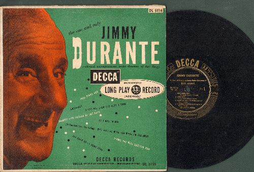 Durante, Jimmy - Jimmy Durante: Inka Dinka Doo, Umbriago, Start Off Each Day With A Song, Durante The Patron Of The Arts + 4 (10 inch LP record with picture cover) - EX8/EX8 - LP Records