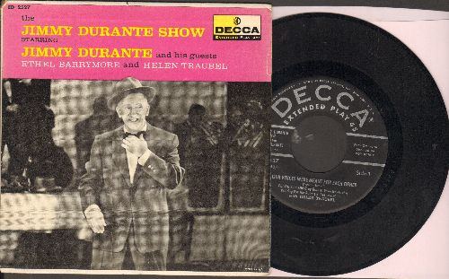 Durante, Jimmy - Our Voices Were Meant For Each Other (with Helen Traubel)/There's A Place In The Theatre For You (with Ethel Barrymore) (vinyl EP record with picture cover) - EX8/EX8 - 45 rpm Records
