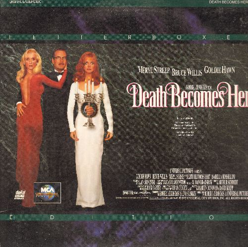 Death Becomes Her - Death Become Her LASERDISC Starring Meryl Streep, Bruce Willis and Goldie Hawn - NM9/EX8 - LaserDiscs