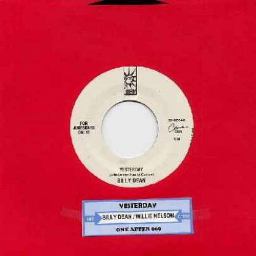 Dean, Billy & Willie Nelson - Yesterday (BEATLES cover version!)/One After 909 (with juke box label) - M10/ - 45 rpm Records