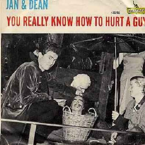 Jan & Dean - You Really Know How To Hurt A Guy/It's As Easy As 1, 2, 3 (with picture sleeve) - EX8/EX8 - 45 rpm Records