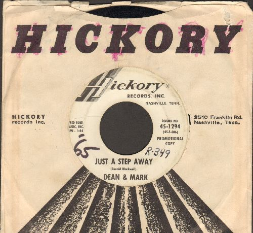 Dean & Mark - Just A Step Away/A Fallen Star (DJ advance pressing with Hickory company sleeve, wol) - VG7/ - 45 rpm Records