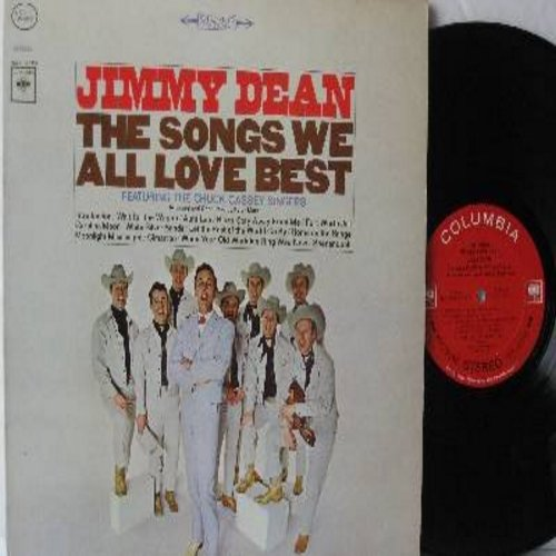 Dean, Jimmy - The Songs We All Love Best: Home On The Range, Shenandoah, Cimarron (Roll On), White Silver Sands, Wait For The Wagon, Moonlight Mississippi (Vinyl STEREO LP record) - NM9/EX8 - LP Records