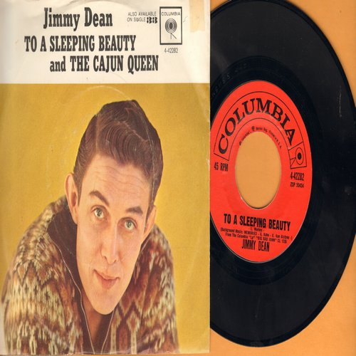 Dean, Jimmy - The Cajun Queen/To A Sleeping Beauty (with picture sleeve)  - NM9/EX8 - 45 rpm Records