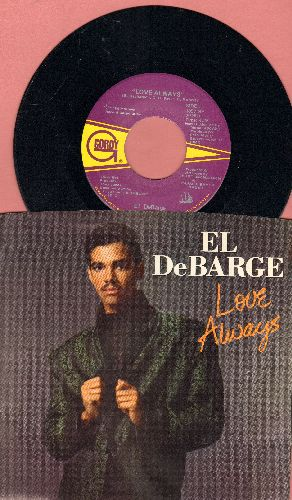 El DeBarge - Love Always/The Walls (Come Tumbling Down) (with picture sleeve) - NM9/NM9 - 45 rpm Records