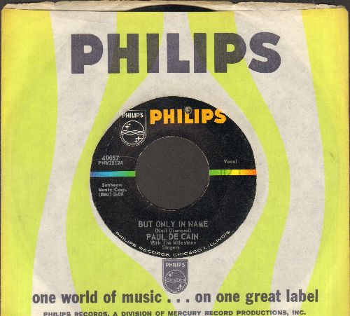 De Cain - But Only In Name/Fishin' Boy (with vintage Philips company sleeve) (bb) - VG7/ - 45 rpm Records