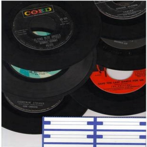 Lee, Brenda, Fabian, Lou Christie, Rolling Stones, Drifters, George & Johnny & The Pilots - Vintage Vinyl Mixed 6-Pack: First issue 45rpms records, all in very good or better condition, in white paper sleeves with blank juke box labels. Hits include Sweet