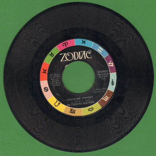 De Castro Sisters - Teach Me Tonight/Before The Next Teardrop Falls - NM9/ - 45 rpm Records