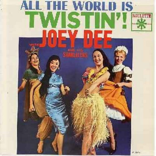 Dee, Joey & The Starliters - All The World Is Twistin'!: Just Walkin' In The Rain, Wing-Ding, Speak Up Mambo, Let's Have A party, Cyclone, Startight Special (Vinyl LP record) - VG7/EX8 - LP Records