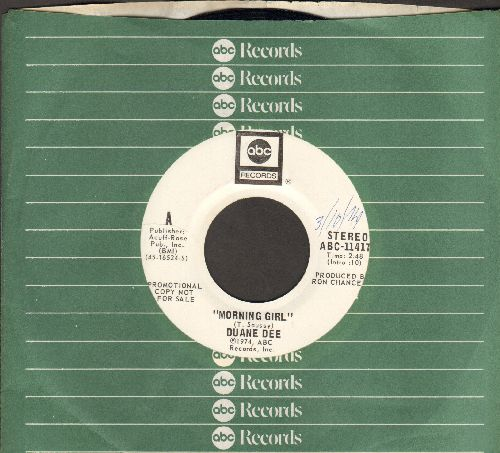 Dee, Duane - Morning Girl/She's My Woman (DJ advance pressing with ABC company sleeve) - NM9/ - 45 rpm Records