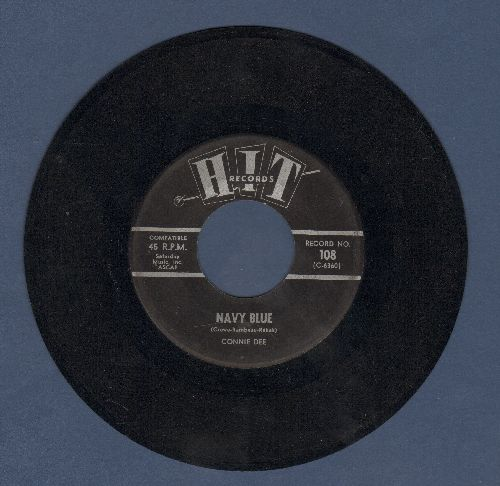 Dee, Connie - Navy Blue/Stop And Think It Over (by Dotty & Dan on flip-side) (contemporary cover versions of hits) - VG6/ - 45 rpm Records