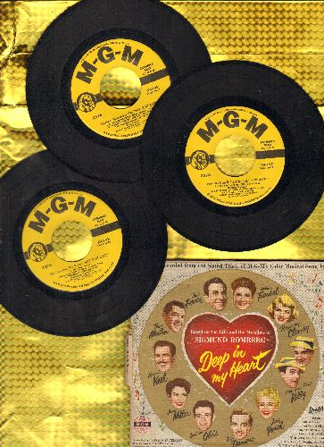 Keel, Howard, Rosemary Clooney, Ann Miller, others - Deep In My Heart: Original Motion Picture Sound Track on 3 vinyl EP records in gate-fold cover. - VG7/VG7 - 45 rpm Records
