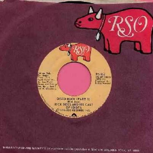 Dees, Rick - Disco Duck  (Parts 1+2) (with RSO company sleeve) - NM9/ - 45 rpm Records